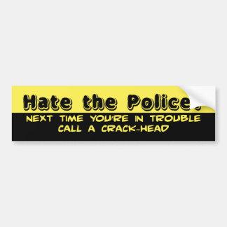 Détestez la police ? autocollant de voiture