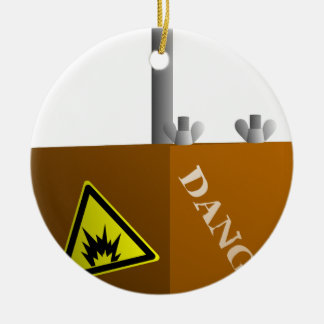 Detonator Box Ceramic Ornament