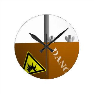Detonator Box Round Clock