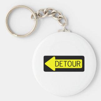 Detour Basic Round Button Keychain