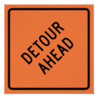 Detour Construction Highway SIgn