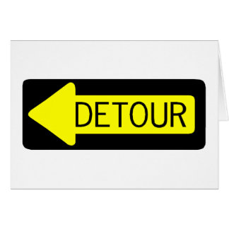 Detour Greeting Card