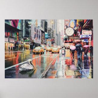 """Detour"" Pelican in New York Poster"