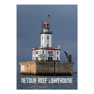 DeTour Reef Lighthouse Poster