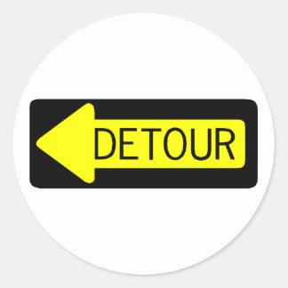 Detour Round Sticker