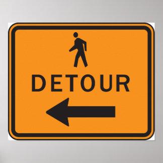 Detour Sign Poster