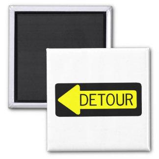Detour Square Magnet