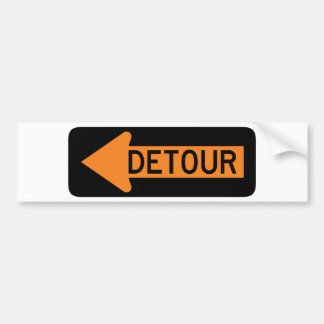 Detour Street Sign Bumper Sticker