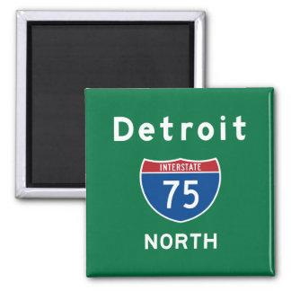 Detroit 75 magnet