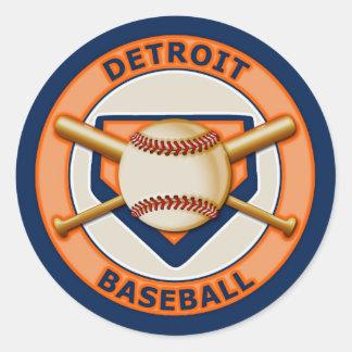 Detroit Baseball Classic Round Sticker