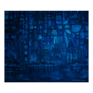 Detroit Blue I - Canvas Print