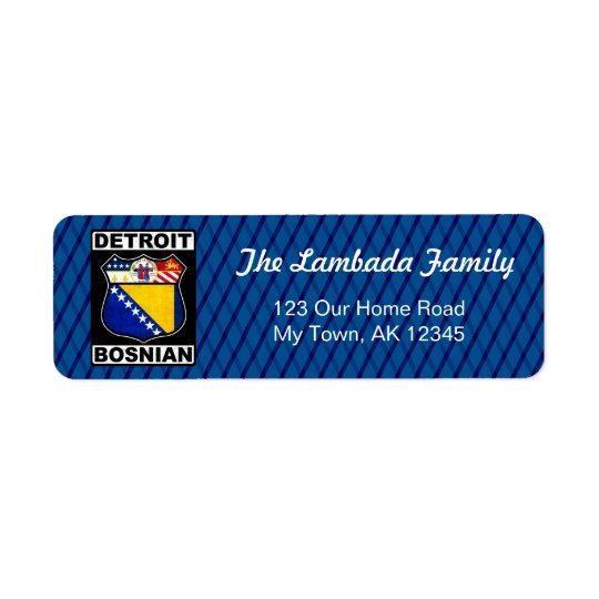 Detroit Bosnian American Address Labels Template