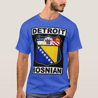 Detroit Bosnian American Design Tee Shirt