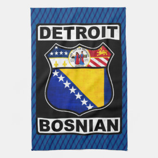 Detroit Bosnian American Tea Towel