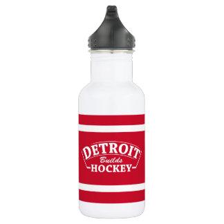 Detroit Builds Hockey 18oz Water Bottle