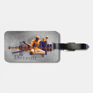 Detroit City Luggage Tag