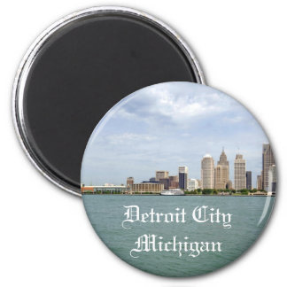 Detroit City Michigan Magnet