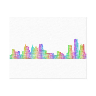 Detroit city skyline canvas print