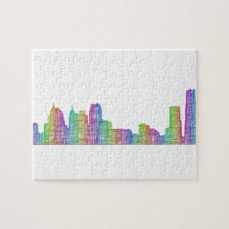Detroit city skyline jigsaw puzzle