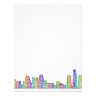 Detroit city skyline letterhead