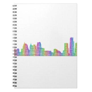 Detroit city skyline notebook