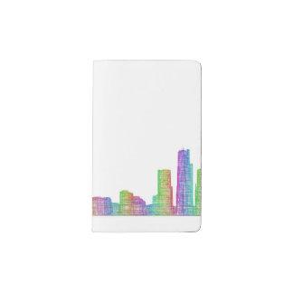 Detroit city skyline pocket moleskine notebook