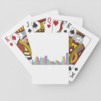 Detroit city skyline poker deck