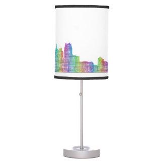 Detroit city skyline table lamp