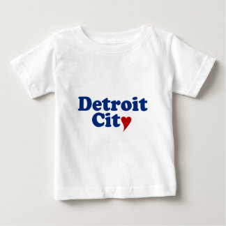 Detroit City with Heart Baby T-Shirt