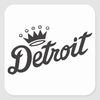 Detroit Crown Square Sticker