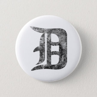 Detroit D wash 2 Inch Round Button