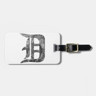 Detroit D wash Luggage Tag