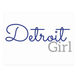 Detroit Girl Postcard