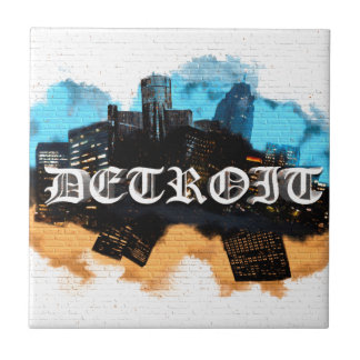 Detroit Graffiti Tile