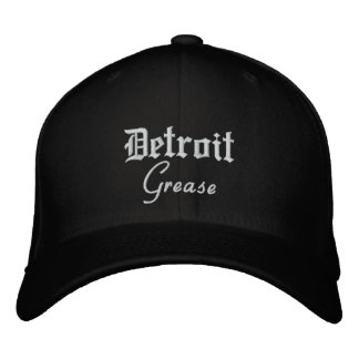 Detroit Grease Flex Fit Wool Baseball Cap Black