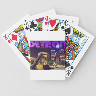 Detroit Hart Plaza Bicycle Playing Cards
