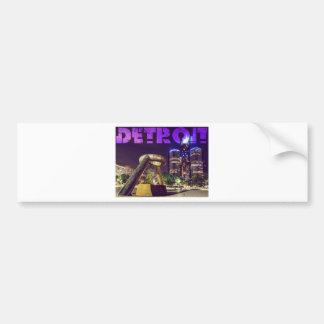 Detroit Hart Plaza Bumper Sticker