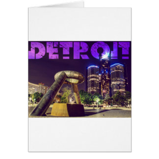 Detroit Hart Plaza Card