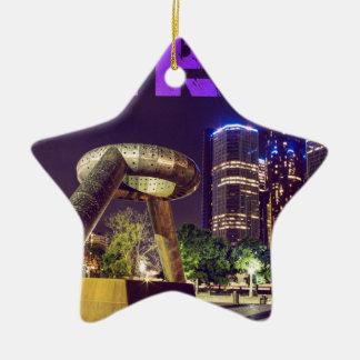 Detroit Hart Plaza Ceramic Ornament