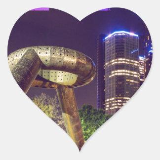 Detroit Hart Plaza Heart Sticker