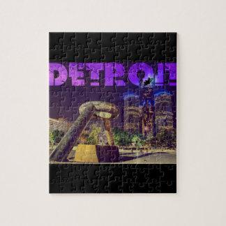 Detroit Hart Plaza Jigsaw Puzzle