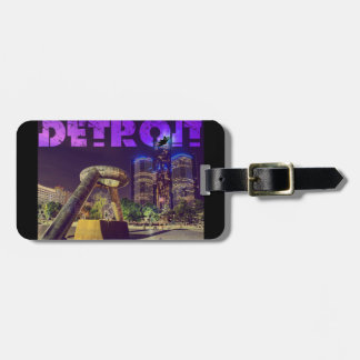 Detroit Hart Plaza Luggage Tag