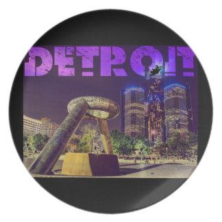 Detroit Hart Plaza Plates