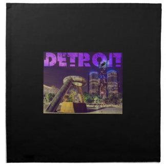 Detroit Hart Plaza Printed Napkin
