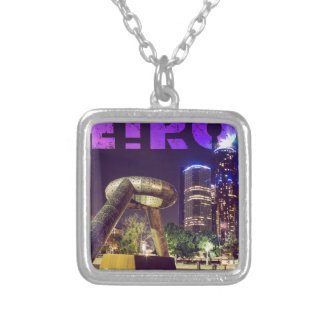 Detroit Hart Plaza Silver Plated Necklace