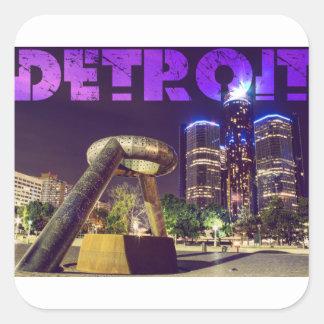 Detroit Hart Plaza Square Sticker