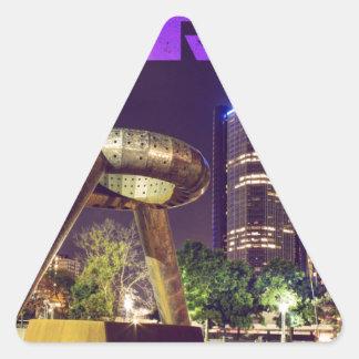 Detroit Hart Plaza Triangle Sticker