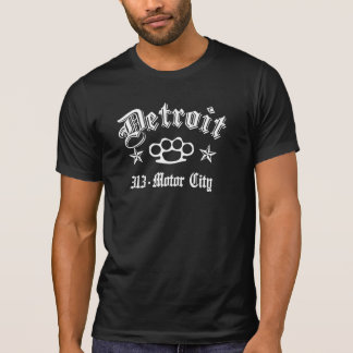 Detroit Knuckles 313 Motor City T-Shirt