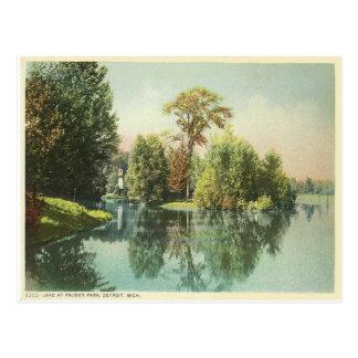 Detroit, Lake at Palmer Park Postcard