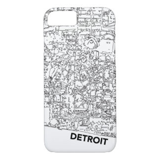 Detroit Line Map Case